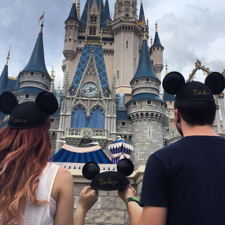 Baby Announcement.   Disneyworld.