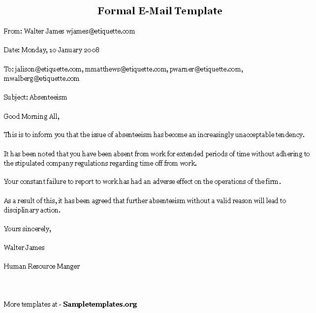 Formal E Mail Example Awesome 1000 Images About Business Documents On Pinterest Mail Template Email Templates Job Application Template