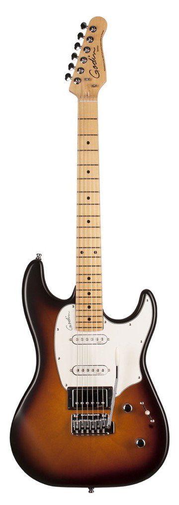 Godin Session Electric Guitar, Maple Fingerboard (with Gig Bag), Blackburst