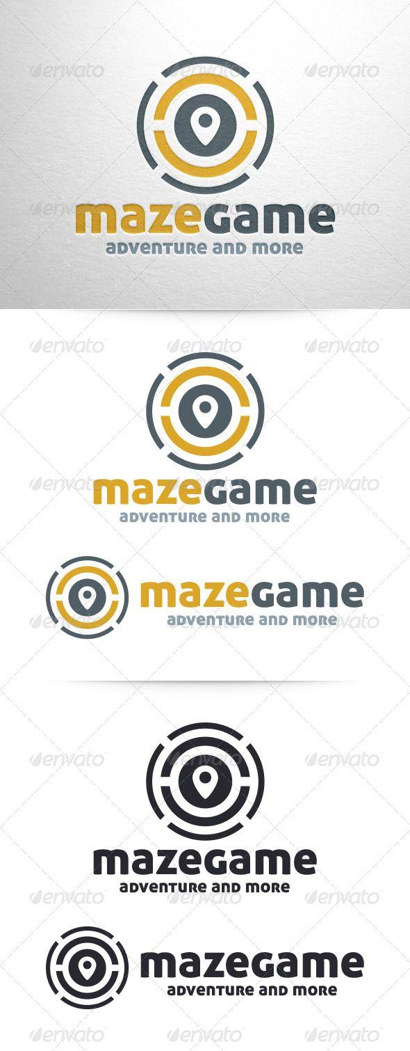 Maze Game Logo Template