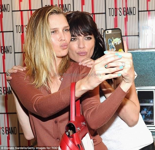 Hey girl! Blair - who has a son Arthur, 4, with ex-partner Jason Bleick - also took a duck...