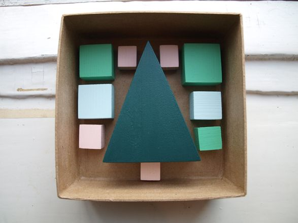 Wooden Christmas card by Maija Fredrika