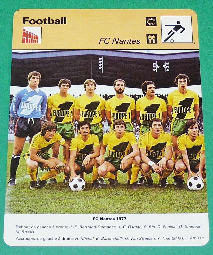 Football FC Nantes 1976 1977 Marcel Saupin Canaris FCN Jaunes | eBay