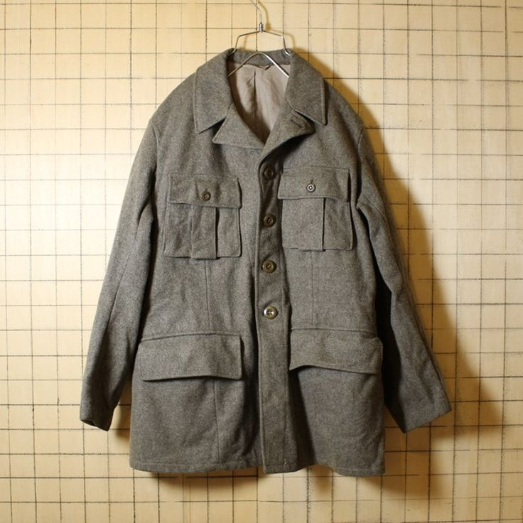 スウェーデン軍 M39 50s ミリタリー 古着 ウールジャケット メンズML相当 グレー