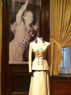 EVITA visits Eva Peron Exhibit: Photograph and suit