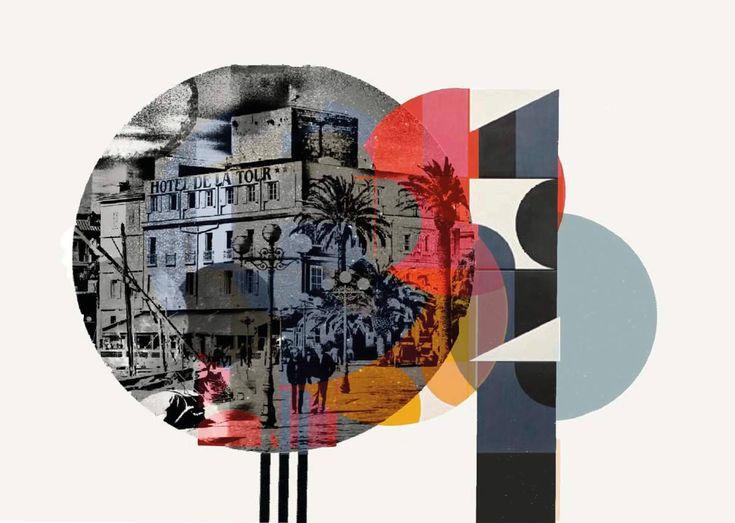 Sanary-sur-Mer, Cote d'Azur, Frankreich, Süden, Fotografie, Mixedmedia, Assemblage,  Hafen,  grafisch, elemente, Wandbild, Kunstwerk von maidofaustriashop auf Etsy