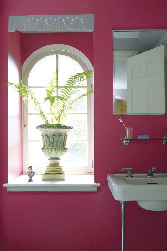Benjamin Moore Color Trends 2015   Walls: Old Claret Aura Bath U0026 Spa Matte,  Trim: Chantilly Lace Aura Semi Gloss