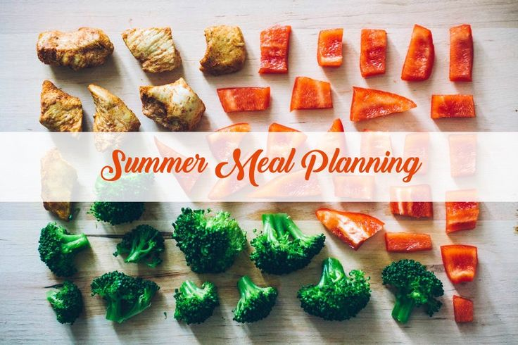 Weekly meal planning for a busy person.