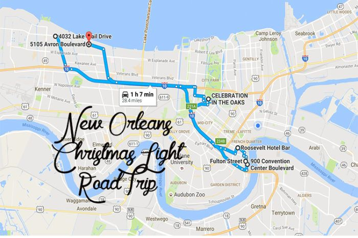 Are you ready for a fun and relaxing trip through some of the most beautiful light displays in the Greater New Orleans area?
