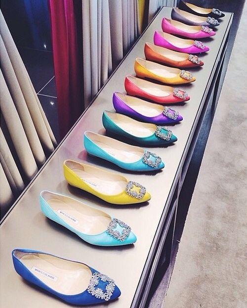 flat manolo blahnik shoes