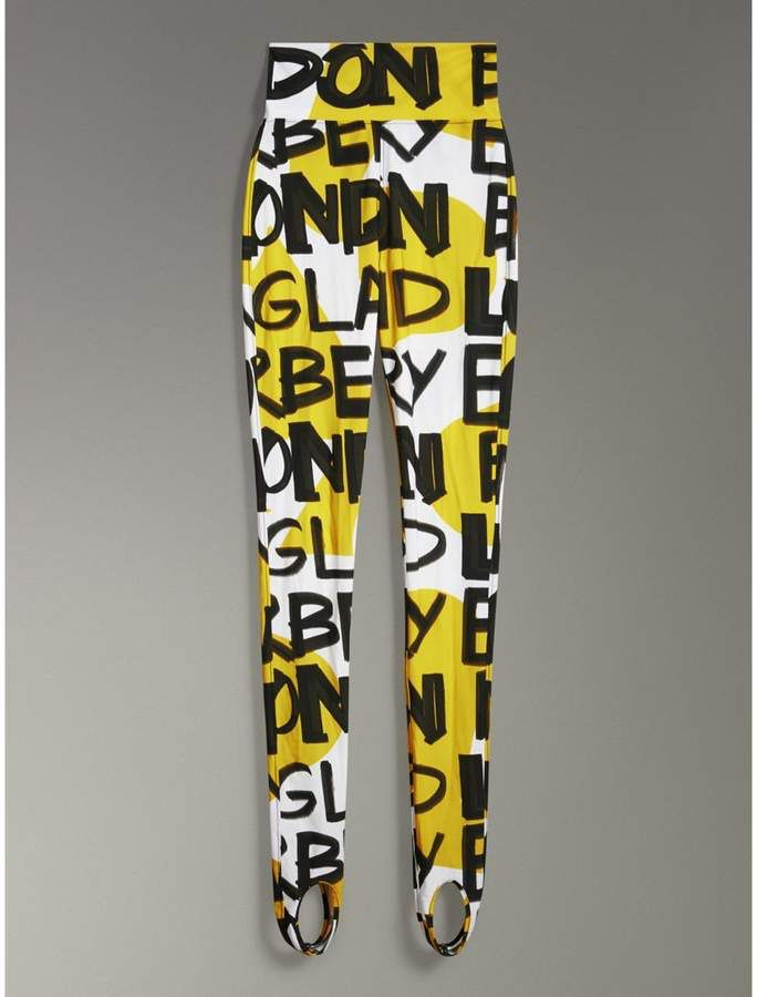 668d27a0f94f Burberry Graffiti Print Leggings | Fashion | Printed leggings ...