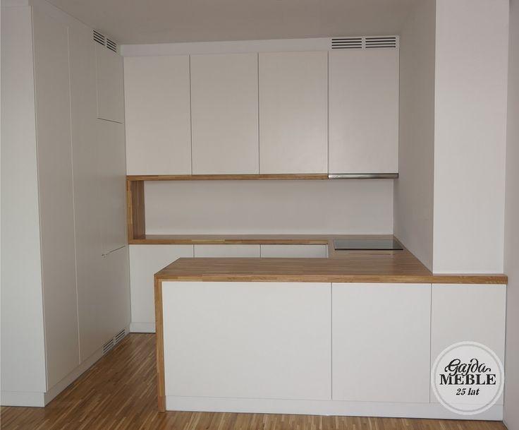 Kuchnia skandynawska biała matowa - Kuchnia drewniana na wymiar - Gajda Meble Koszalin