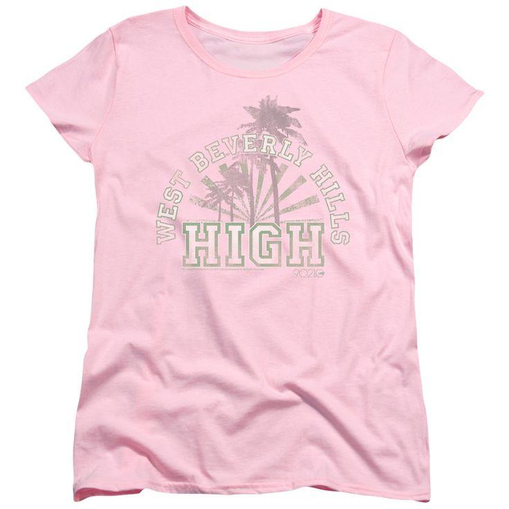 Beverly Hills 90210 West Beverly Hills High Pink Womens T-Shirt