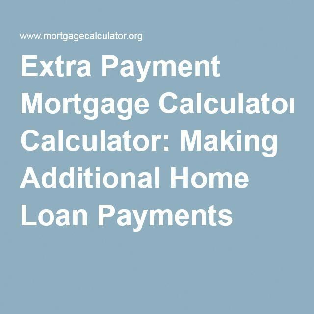 Extra Payment Mortgage Calculator Making Additional Home Loan