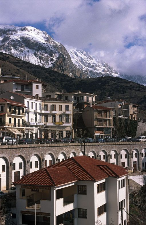 Arachova, a mountain village nestling in the foot of Mt. Parnassos in Viotia, #Greece
