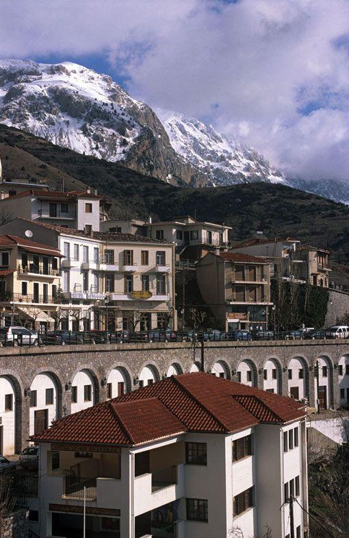 Arachova, a mountain village nestling in the foot of Mt. Parnassos in Viotia, #Greece