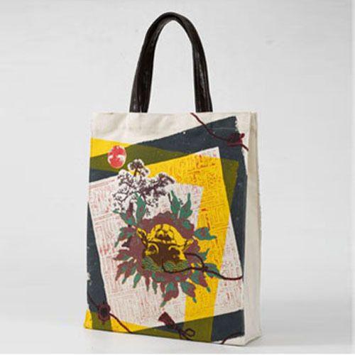 Korean Traditonal Desing Canvas Woman TOTE BAG Shoulder Bag Begie