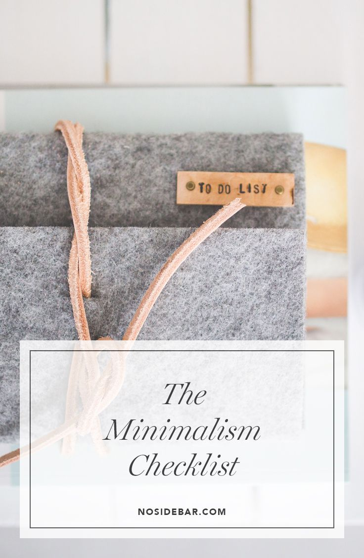 The minimalism checklist inspiration for Minimalist living checklist