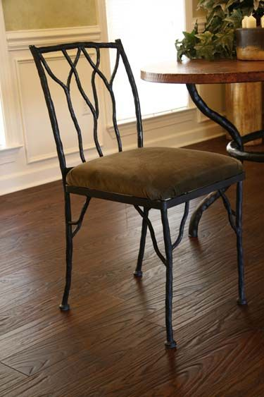 Forged Iron Twig Side Chair 217 Western Dining Chairs