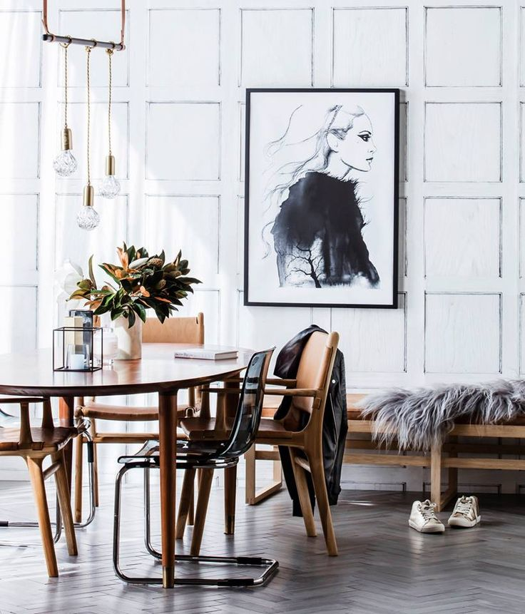 Parisian chic: stunning interior styling for Real Living mag 2016 features our hand cut Crystal Bulb pendants