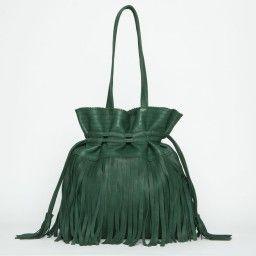 Tote Bag con flecos Hippy Habibi - Green