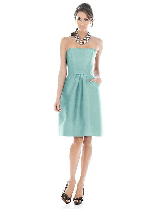 Alfred Sung Bridesmaid Dress D508 (shown in seaside)