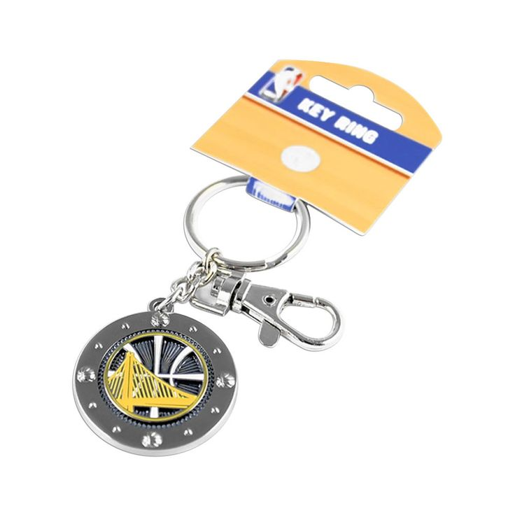 Aminco International NBA Golden State Warriors Team Logo Impact Keychain Key Rin