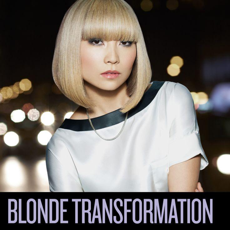 Blonde Transformation - blonde Asiatinnen sind toll! Ich will auch so einen blonden Bob! Lass dich vom REDKEN Friseur in deiner Nähe beraten: http://www.redken.de/consumers/salon-finden