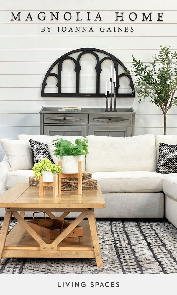 Magnolia Home by Joanna Gaines furniture collection. Designed to