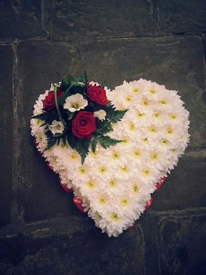 Heart with rose corsage
