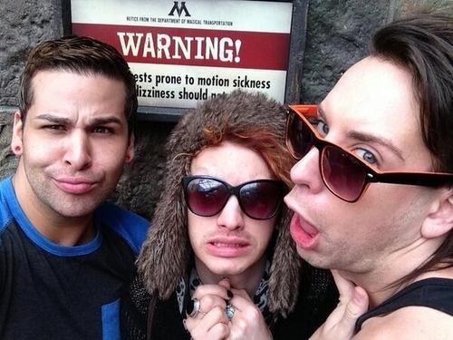 Roxxxy, Jinkx, and Alaska from RuPaul's Drag Race.