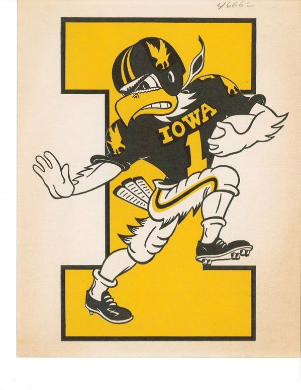 #TBT The Herky caricature was created by Dick Spencer in 1948. Spencer taught editorial cartooning at @UIOWA_SJMC.