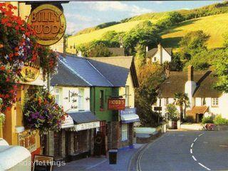 Croyde village in Devon.