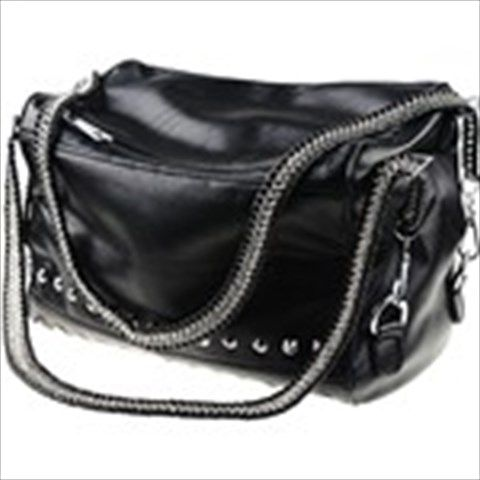 Western Style Rivet Ornament Design PU Leather Shoulder Bag Messenger Bag Handbag for Women $34.37