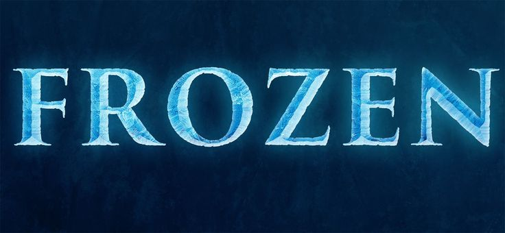 Today, we're going to be creating a text effect that's similar to the Frozen text, that's on the poster for Disney's new movie, Frozen.