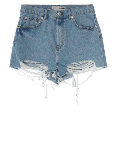 Topshop Szorty jeansowe niebieski