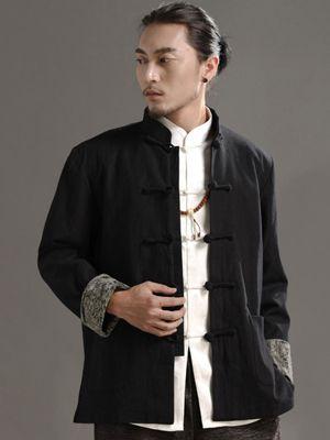 New Style Black Chinese Men's Jacket