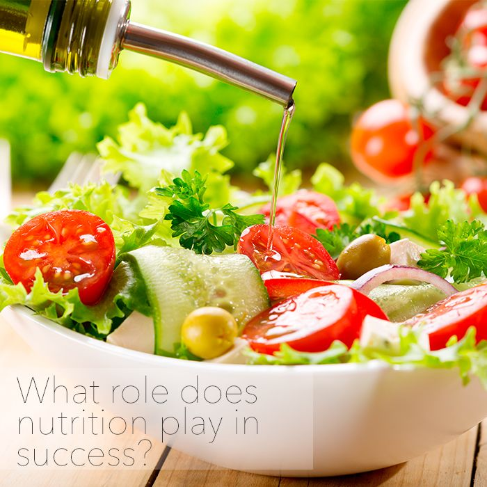 What role does nutrition play in success?