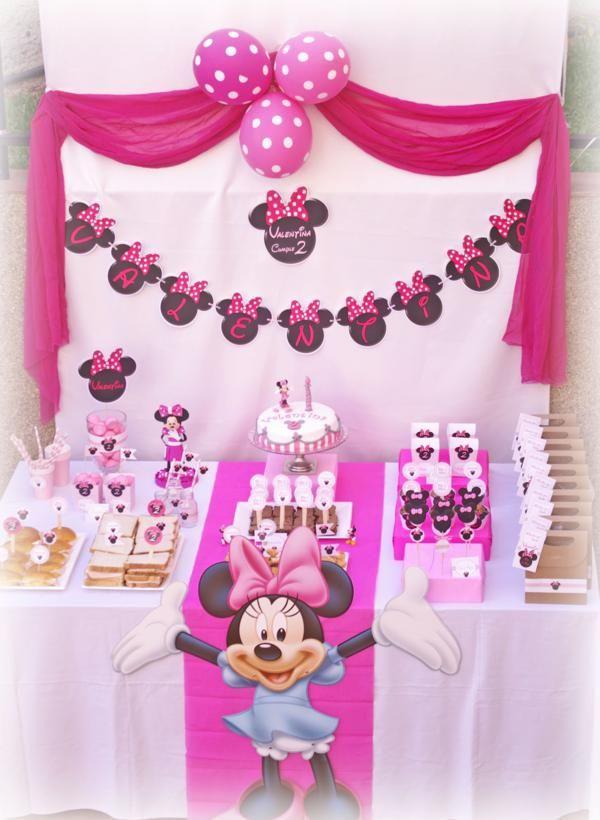girl birthday party ideas | Disney Minnie Mouse Girl Pink 2nd Birthday Party Planning Ideas