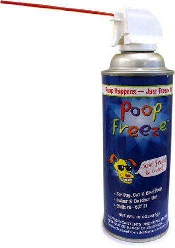 Poop-Freeze - freezing dog poop spray.