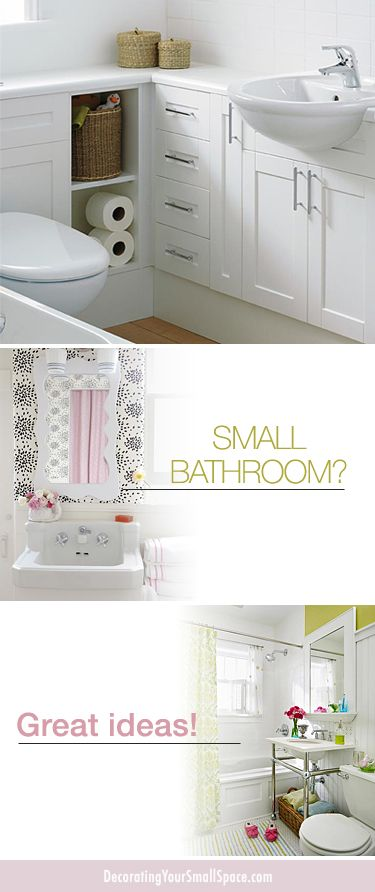 Small Bathroom? Great Ideas! • Tips, Ideas & Inspiration!