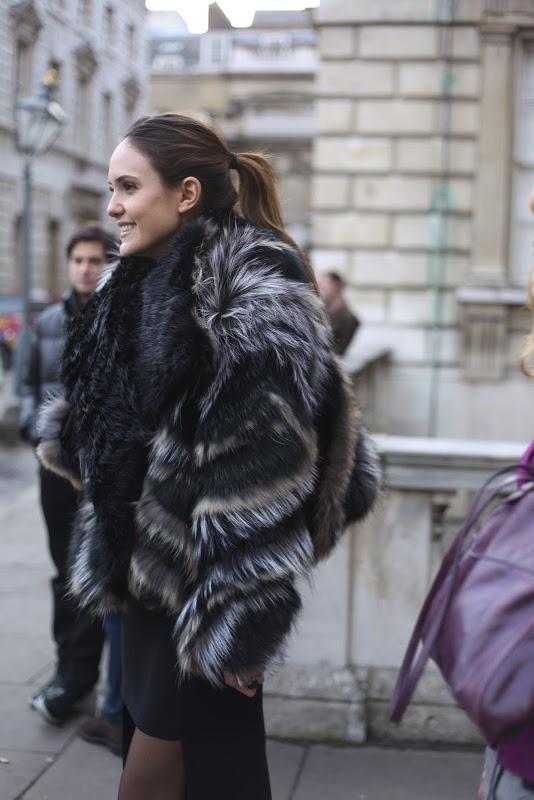 Fur  www.kingsofsports.com  hot grey and black rabbit fur on a pretty brunette girl