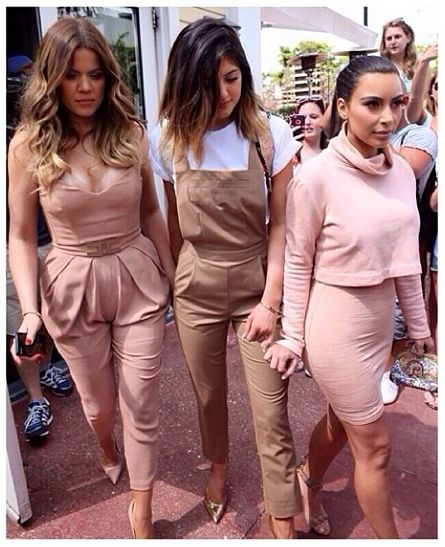 The Kardashian sisters show us how to rock neutrals!