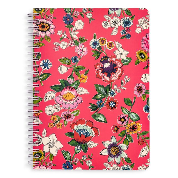 Image of Mini Notebook with Pocket in Coral Floral