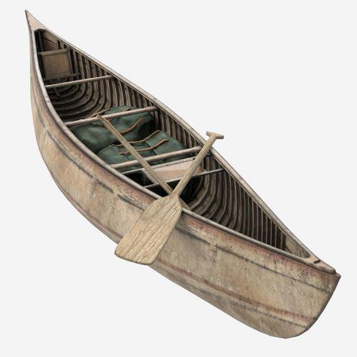 canoe 3d model obj fbx lxo lxl mtl tga 1
