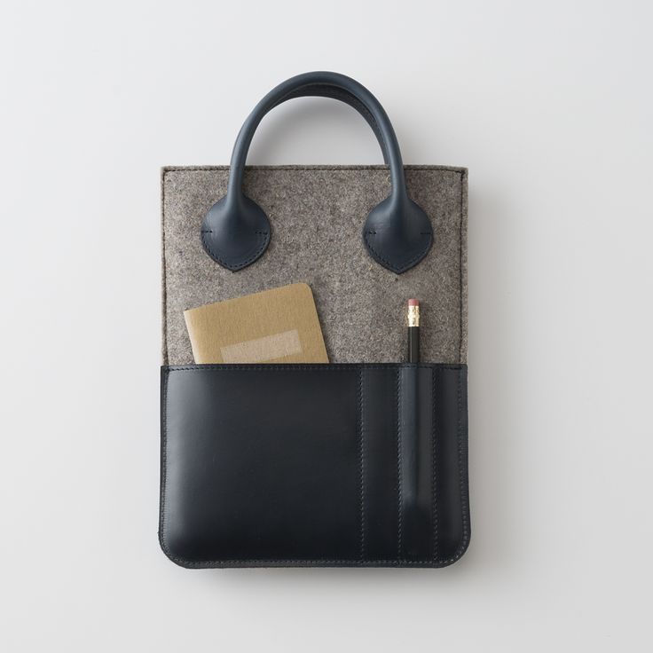 Leather and Felt Tablet Case Exploring the accessory world further, Schoolhouse teams up with Portland's local Tanner Goods to create this beautifully understated carrying case.    Portland Monthly