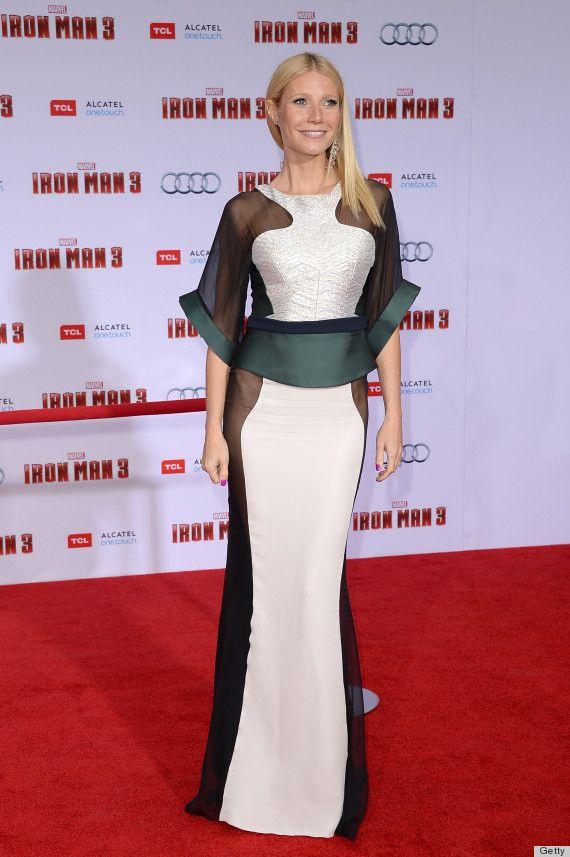 Gwyneth Paltrow's Sheer Dress For 'Iron Man 3' Premiere is very weird. Dislike it!