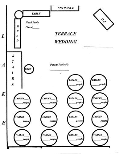 Table Diagram For Wedding