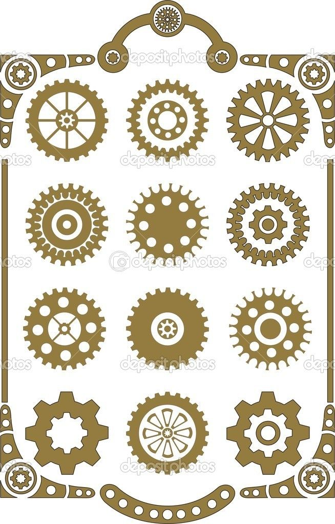 steampunk cogs abstract fantasy - photo #43