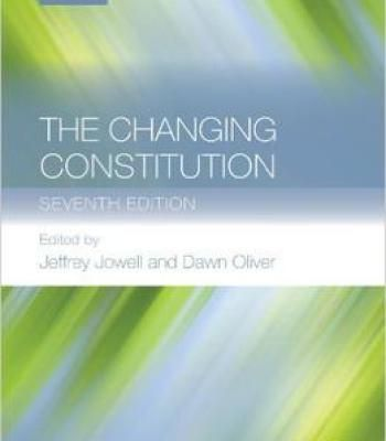 The Changing Constitution 7 Edition PDF